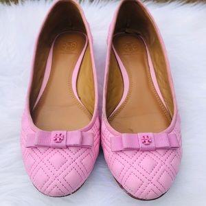 Tory Burch Ballet Flats Powder Puff Pink, 7.5